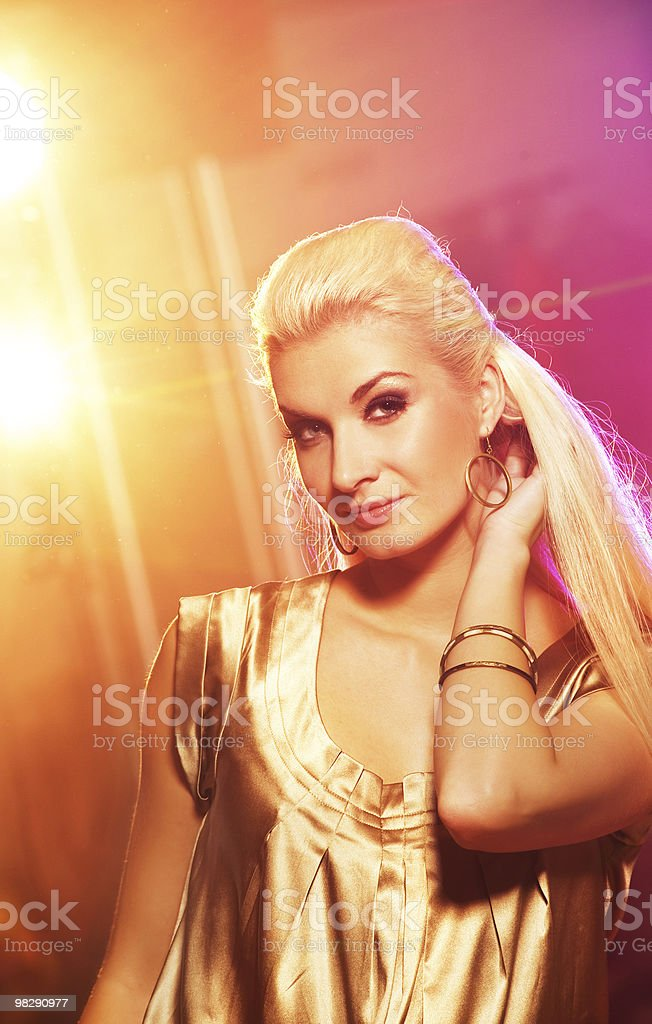 Woman in the night club royalty-free stock photo