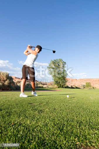 Lady playing a round of golf