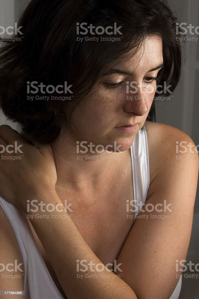 Woman In Thought royalty-free stock photo