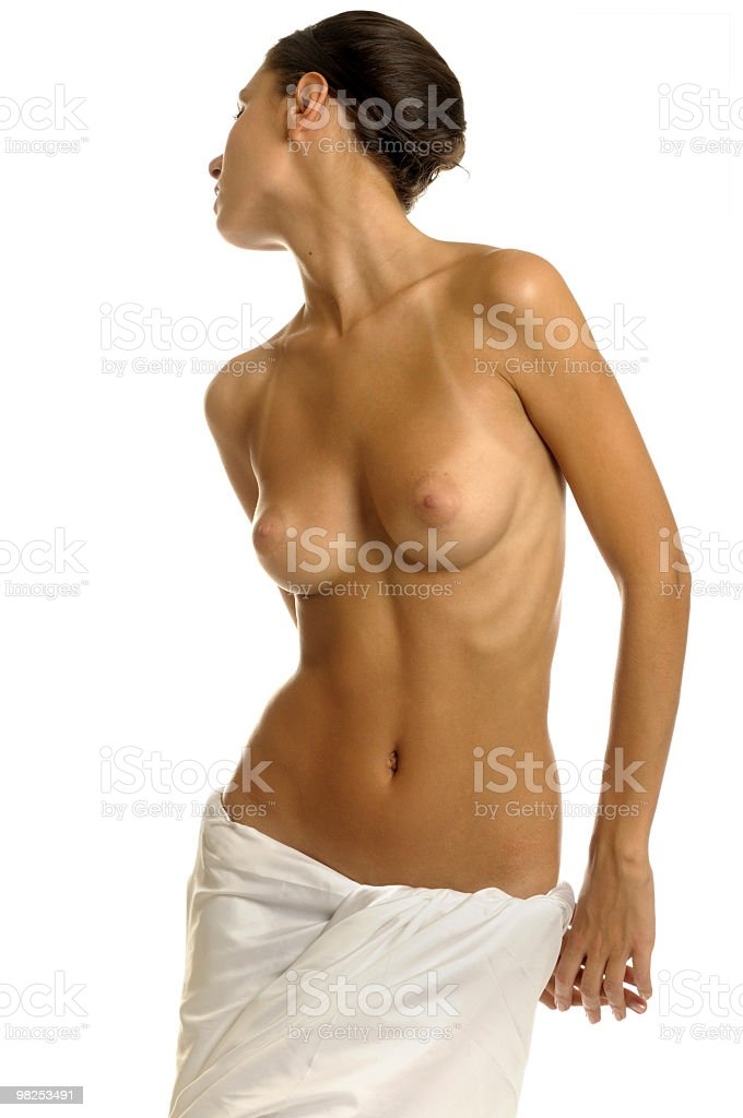 Woman in towel royalty-free stock photo