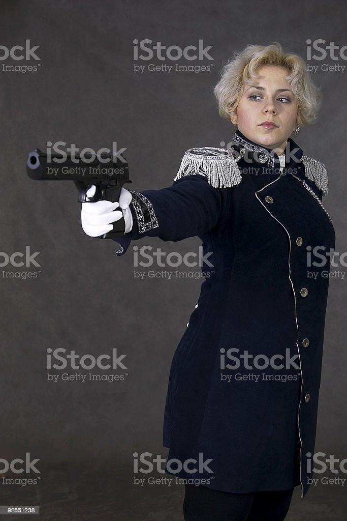 woman in uniform stock photo