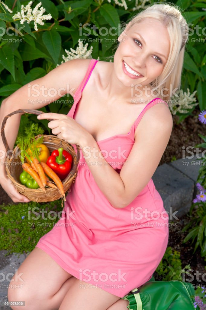 Woman in Vegetable garden - Royalty-free 20-24 Years Stock Photo