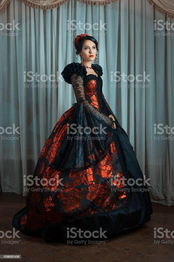 Mulher em estilo antigo. - foto de acervo