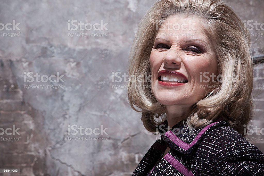 Woman in warehouse royalty-free stock photo