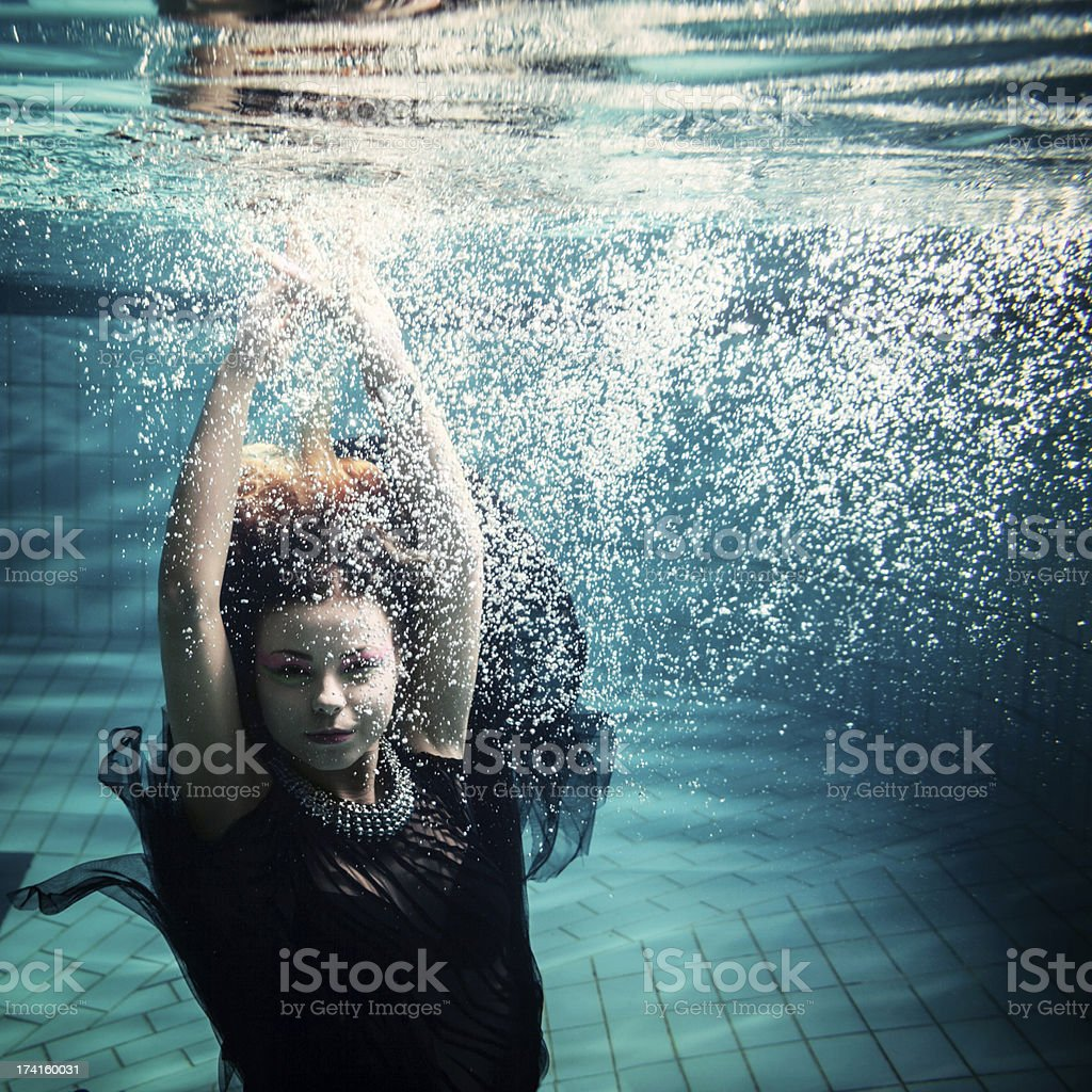 Woman In Water stock photo