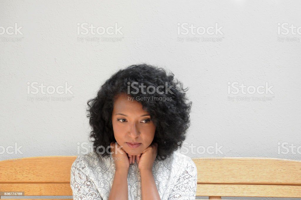 Woman in White Dress stock photo