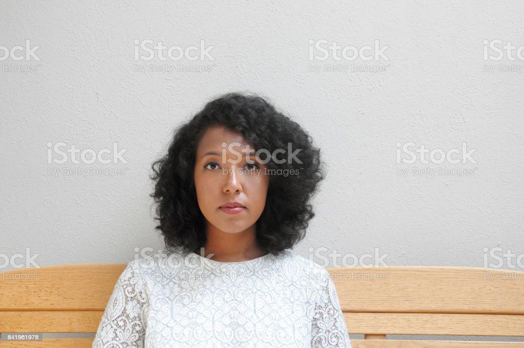 Woman in White Dress stock photo