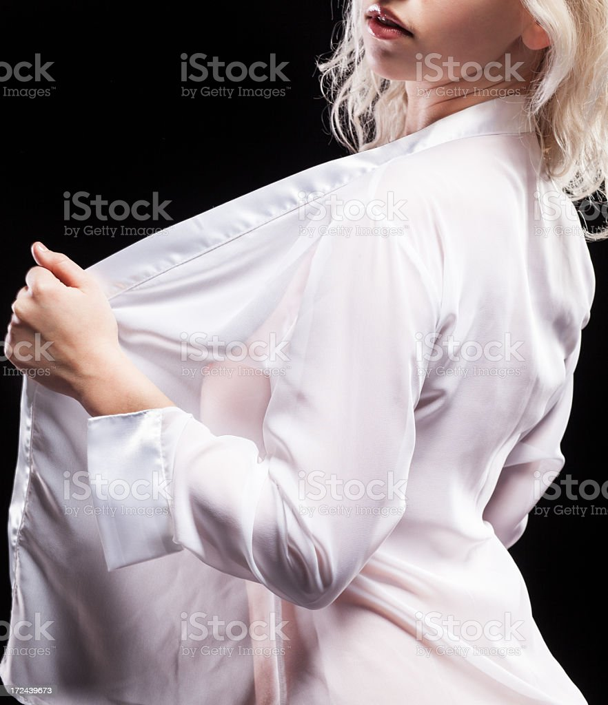 Woman in White Shirt royalty-free stock photo