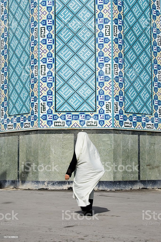 Woman in white veil royalty-free stock photo