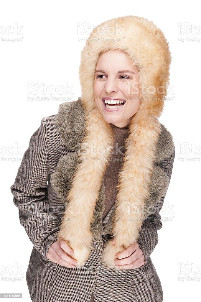 Donna in abbigliamento invernale foto stock royalty-free