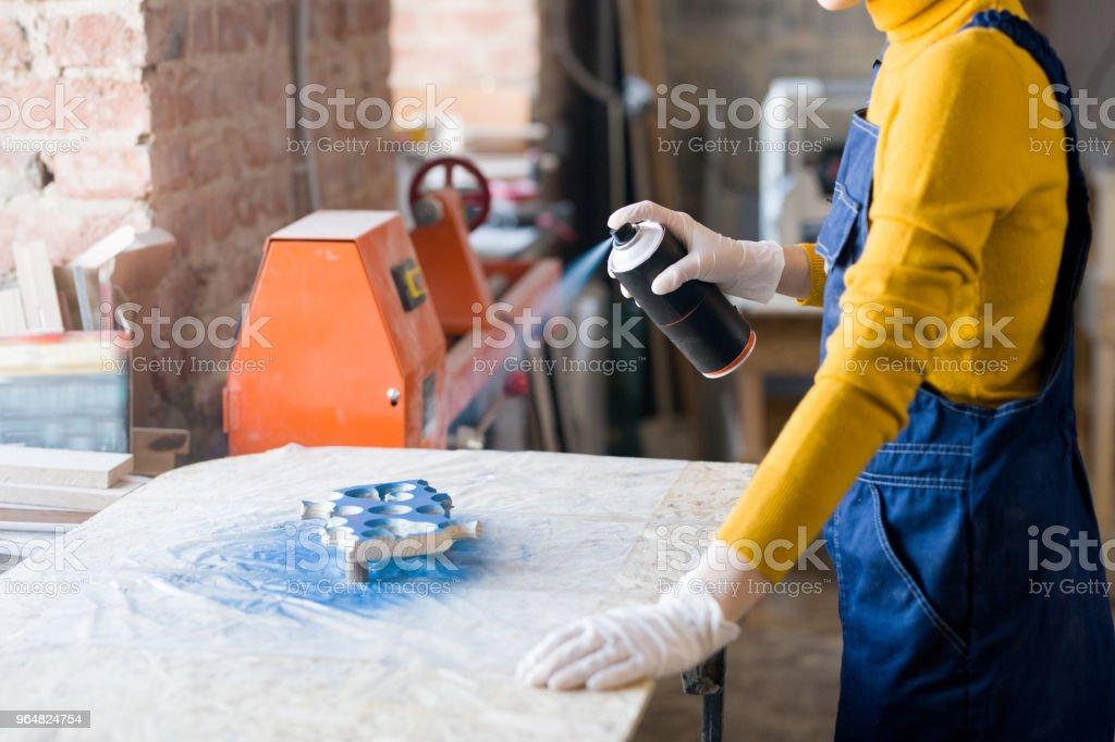 Woman in Workshop royalty-free stock photo