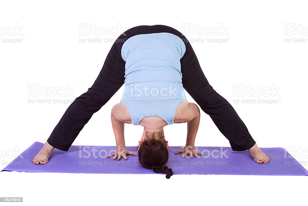 Woman in Yoga Position royalty-free stock photo