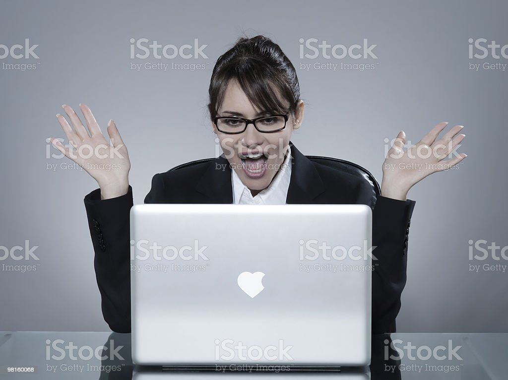 woman internet dating royalty-free stock photo