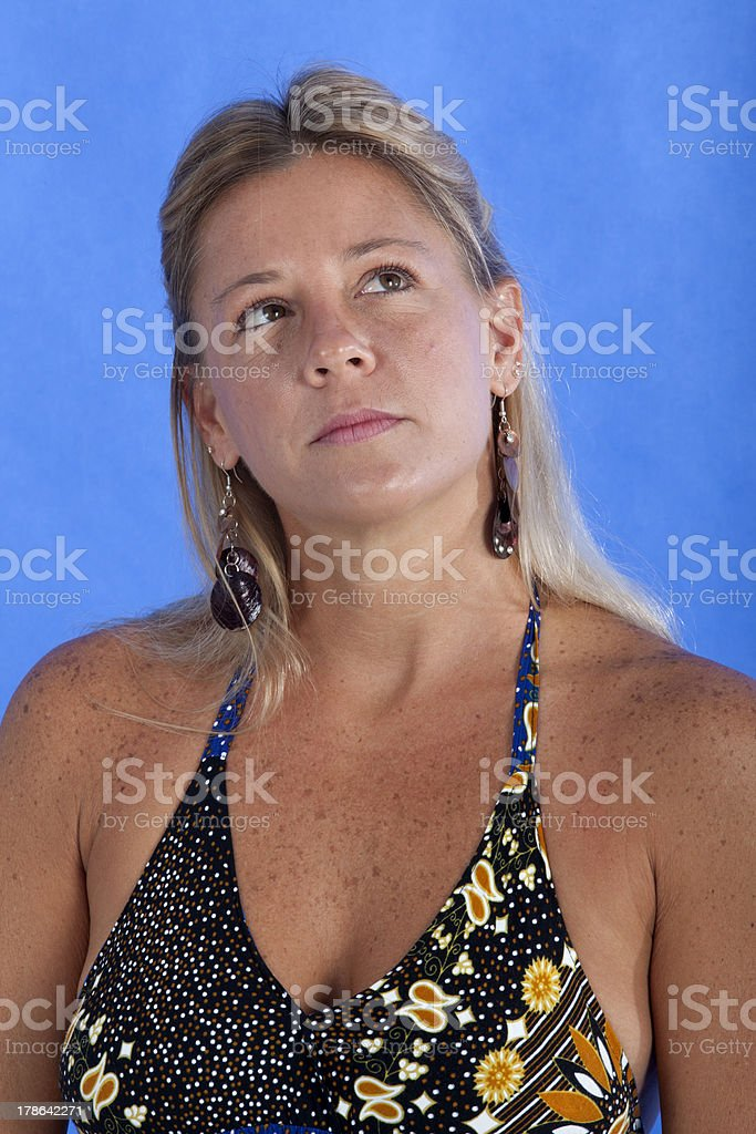 Woman is a causal dress royalty-free stock photo
