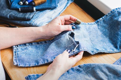 style split sew pants