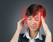istock Woman is touching her head, concept of headache 478125815