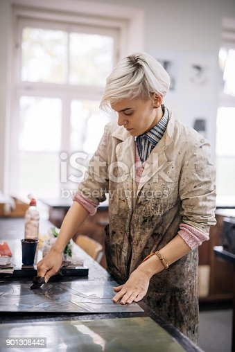 istock Woman is working hard to develop her business 901308442