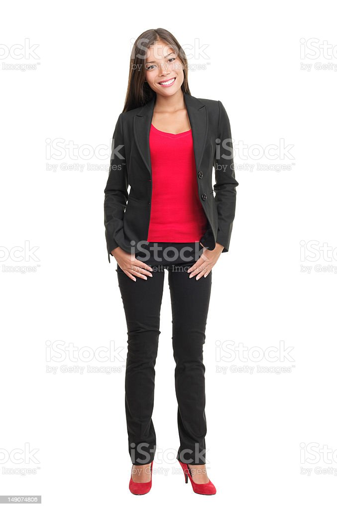 Woman isolated full length royalty-free stock photo