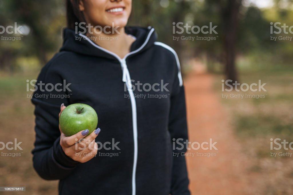 exercice de jogger femme extérieure - Photo
