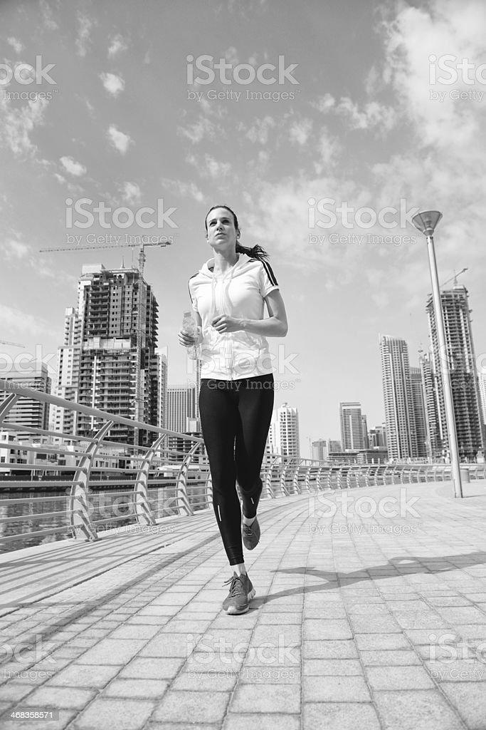 woman jogging at morning royalty-free stock photo