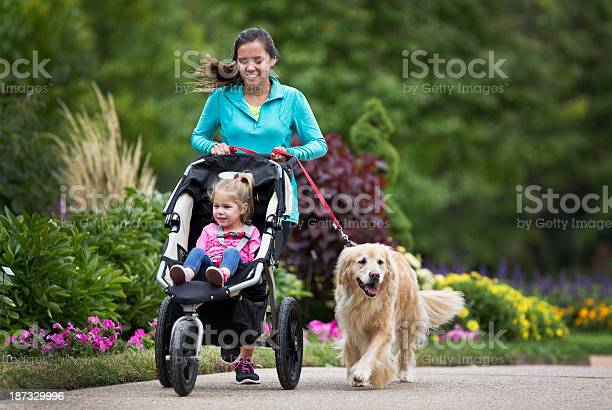 Woman jogging holding a dog on a lead and pushing a buggy picture id187329996?b=1&k=6&m=187329996&s=612x612&h=sn87q4s  vuxwg3vl2blltvd7oukadunxvbnotmzpqc=
