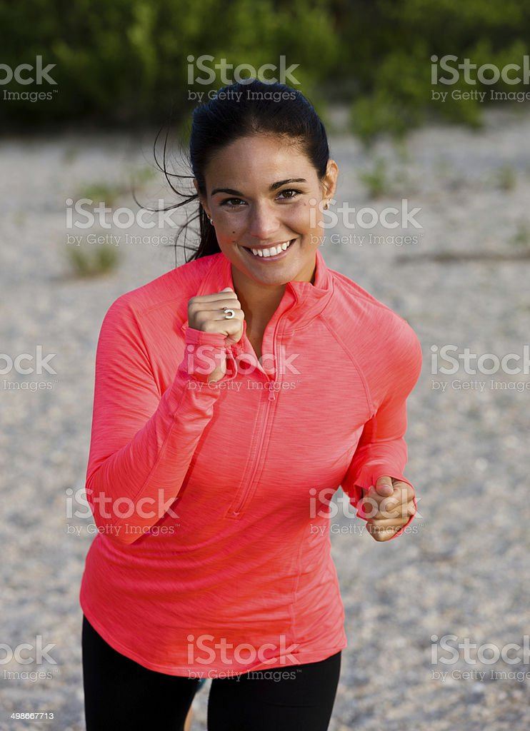 Woman jogging royalty-free stock photo