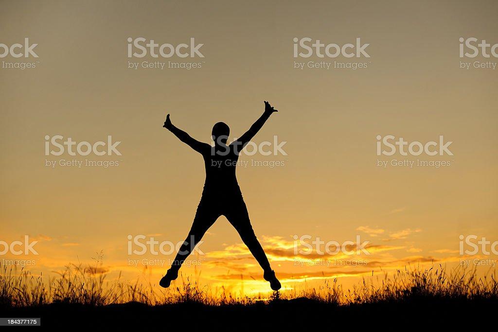 Femme saut - Photo