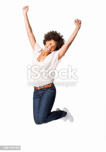 istock Woman Jumping in Celebration 155145100