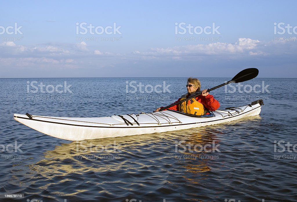 Woman Kayaker royalty-free stock photo