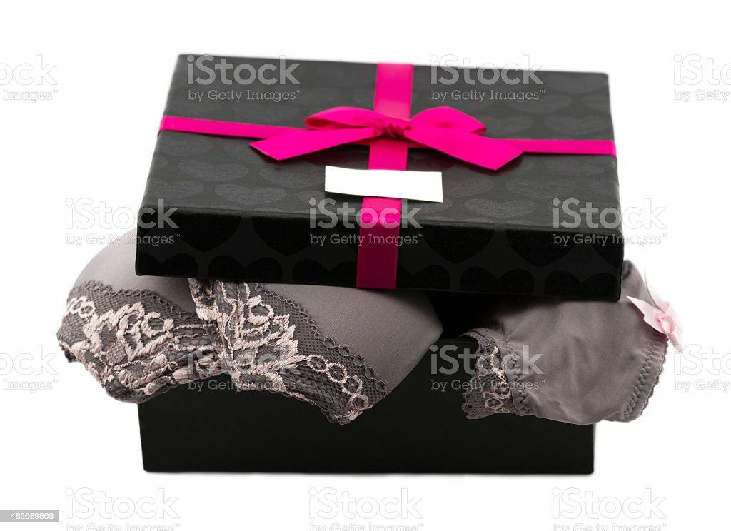 Frau Spitze Dessous in Geschenkbox – Foto