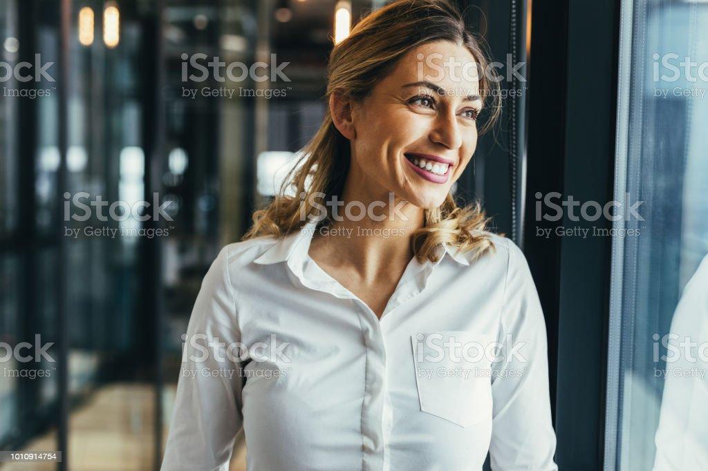 Woman leadership stock photo