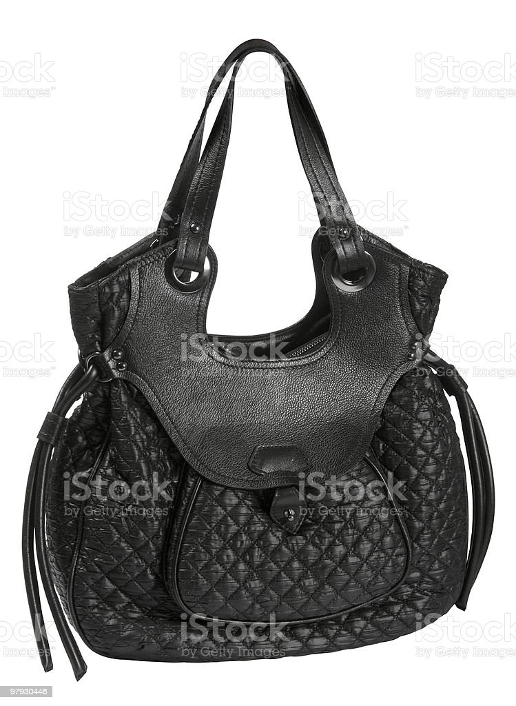 Woman leather bag royalty-free stock photo