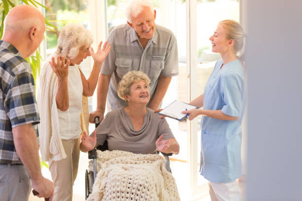 woman leaving hospital - leaving stock photos and pictures