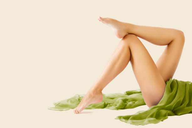 Woman Legs Beauty, Body Skin Care, Epilation and Hair Removal stock photo