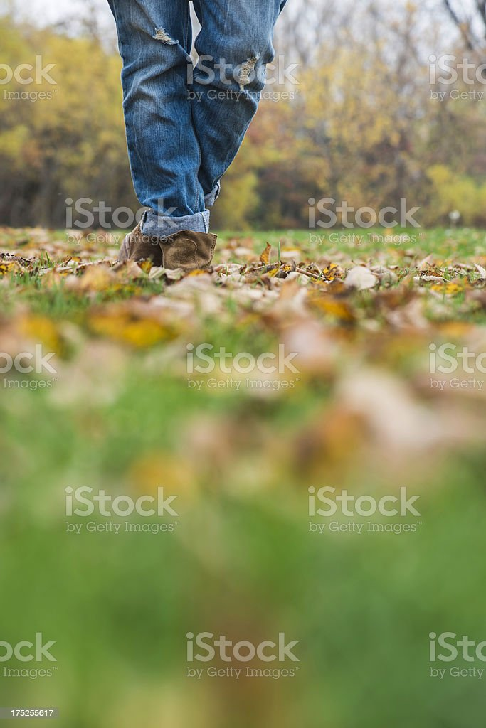 woman legs in park royalty-free stock photo