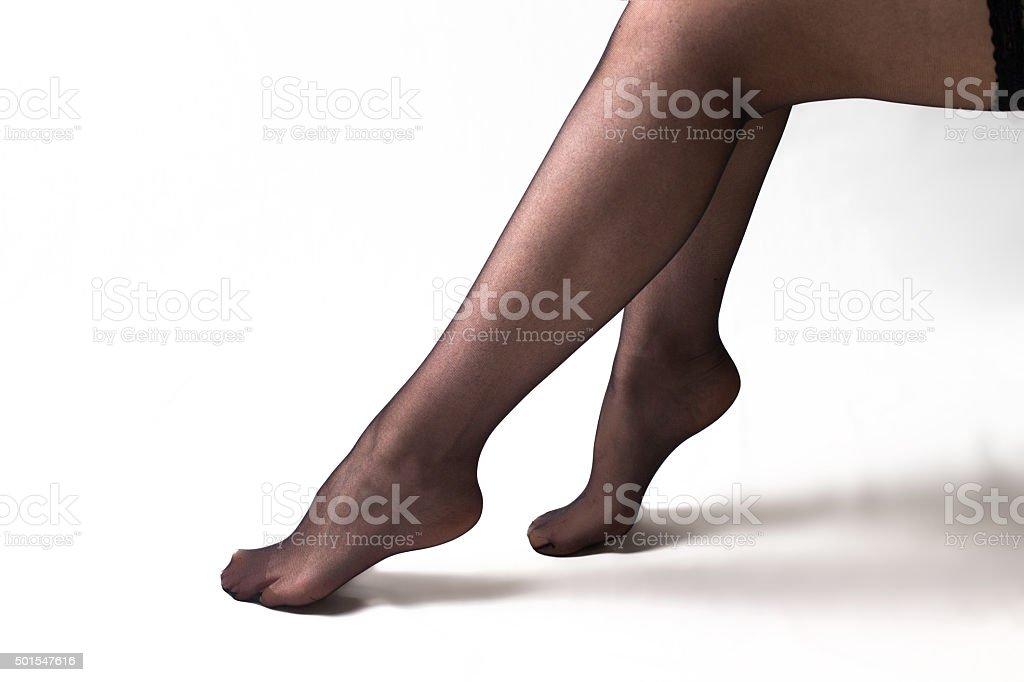 Frau Beine in Strümpfe – Foto