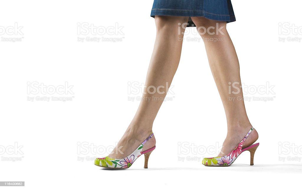 woman legs isolated on white background stock photo