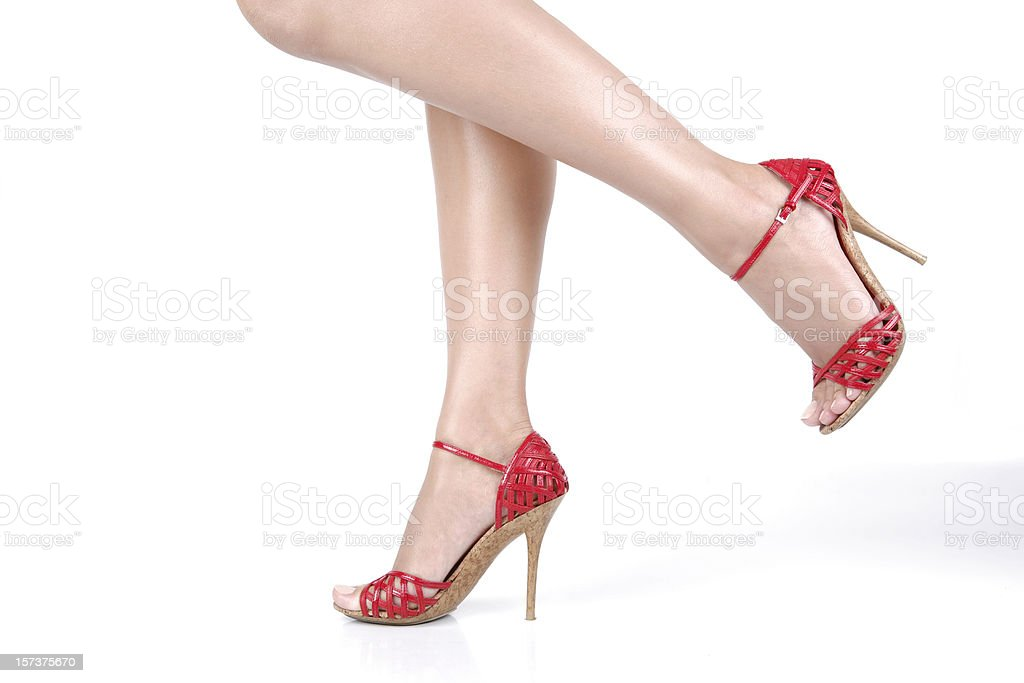 Woman Legs Moving royalty-free stock photo