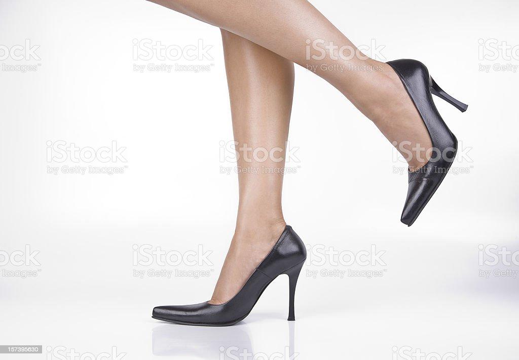 Woman Legs Moving stock photo