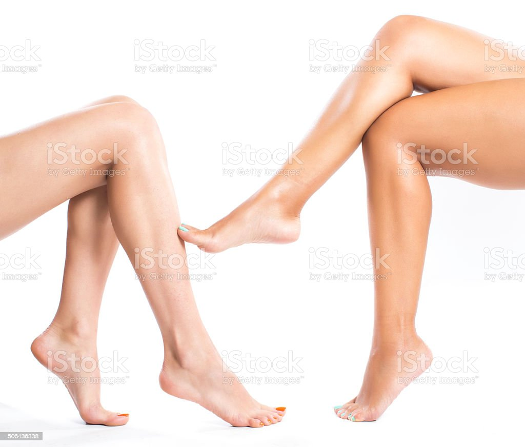 woman legs stock photo