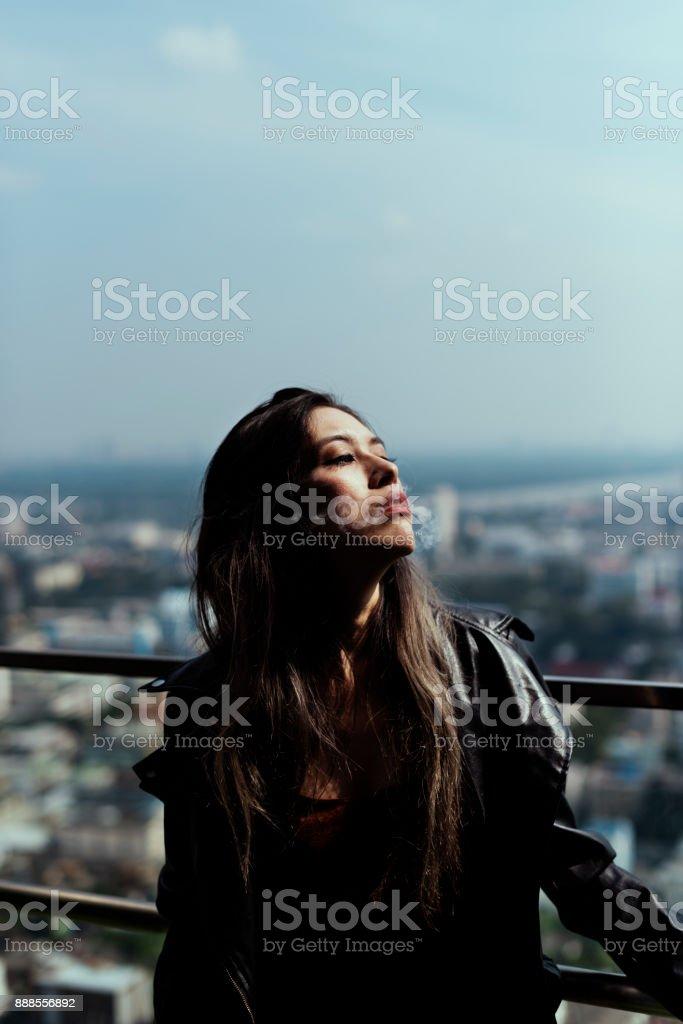 Woman lifestyle fashion shoot stock photo