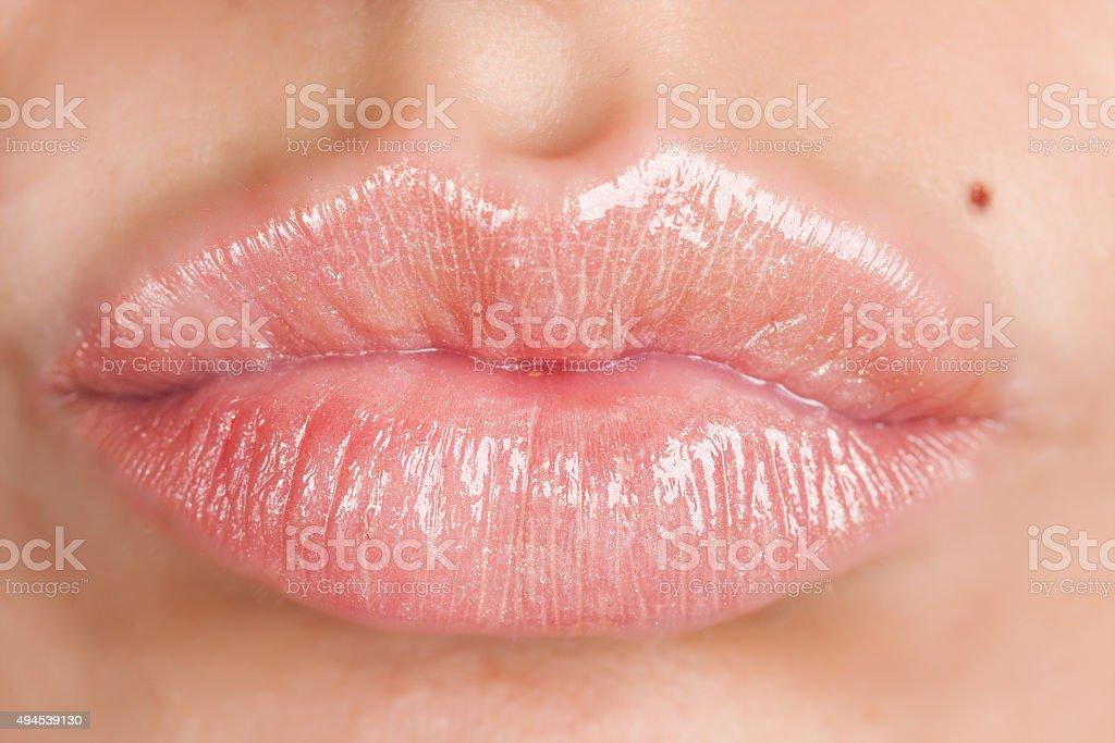Woman lips stock photo