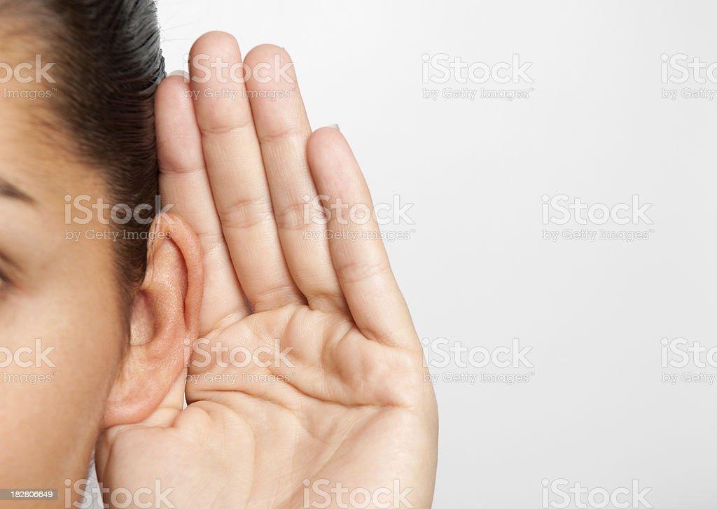 Woman Listening (XXL) stock photo