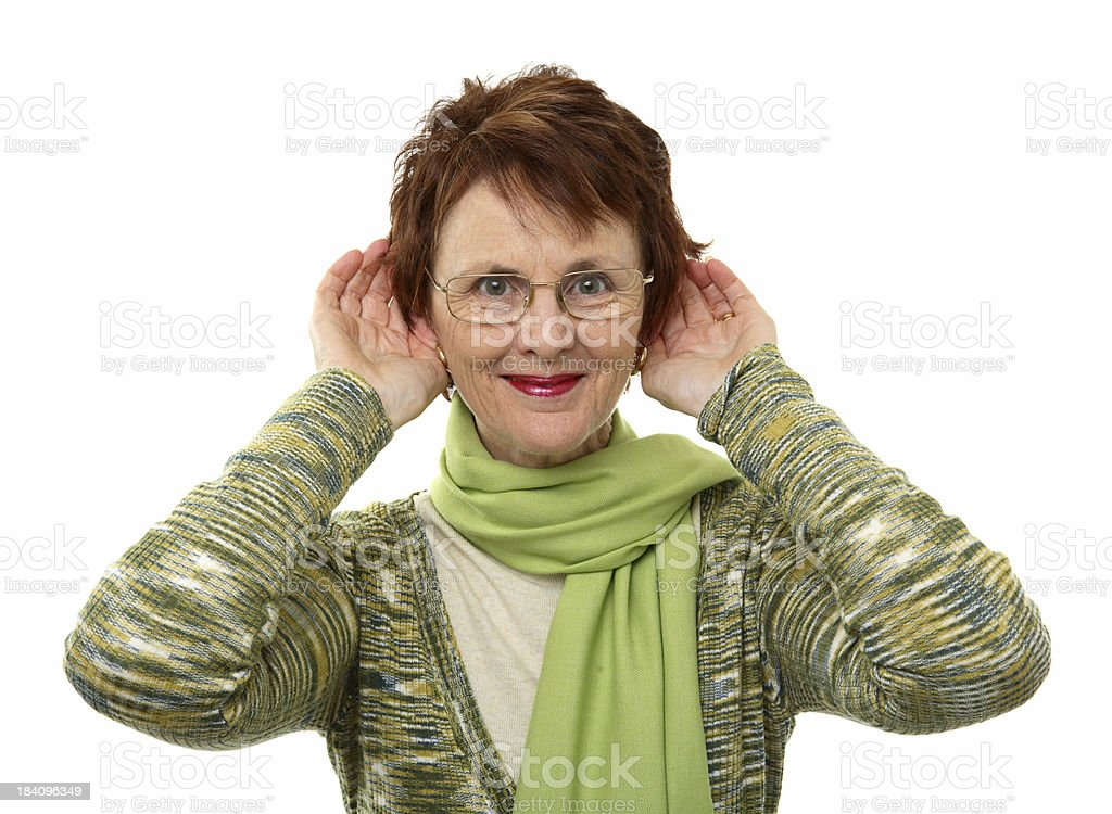Woman Listening royalty-free stock photo