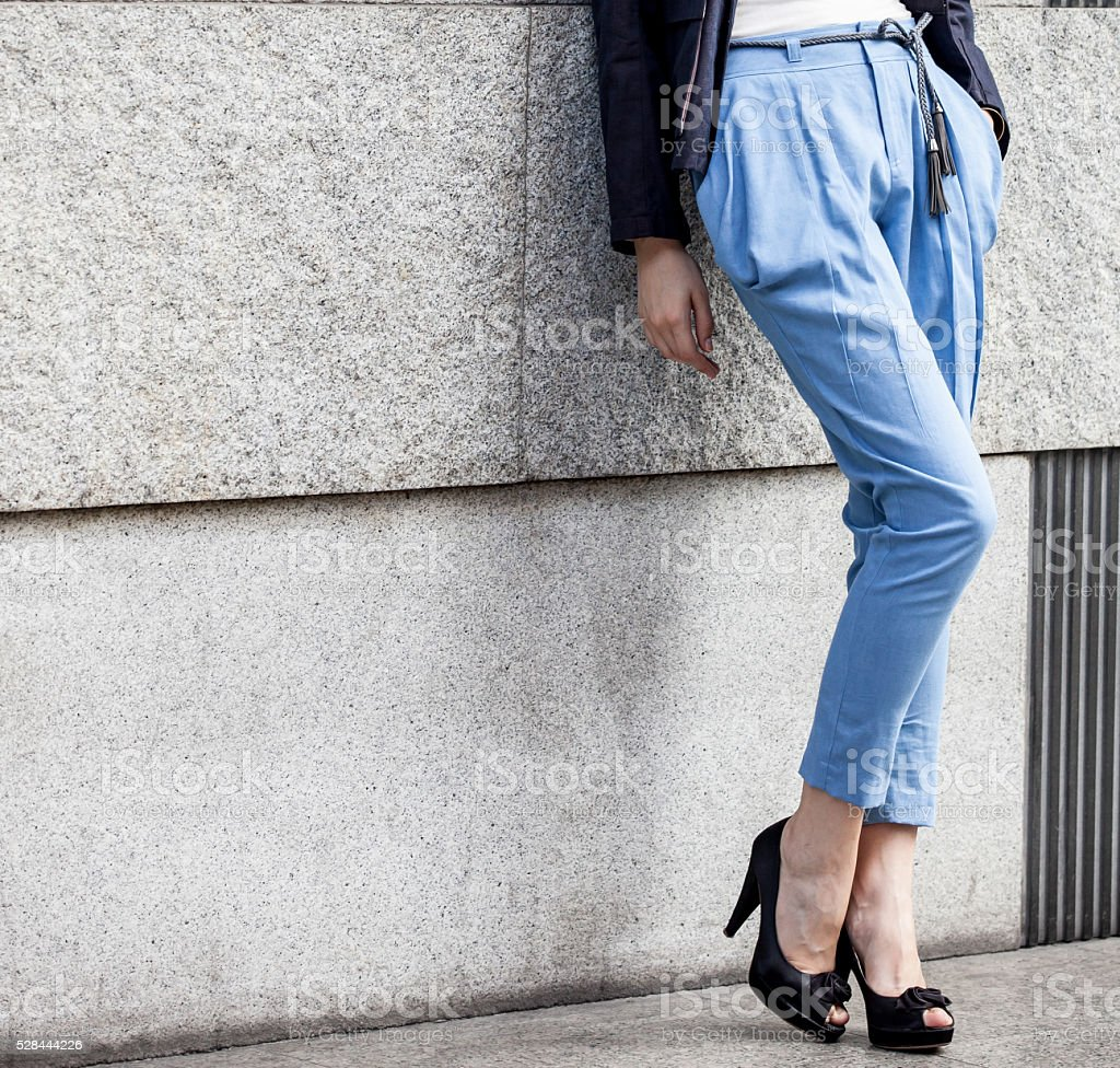 woman long legs stock photo