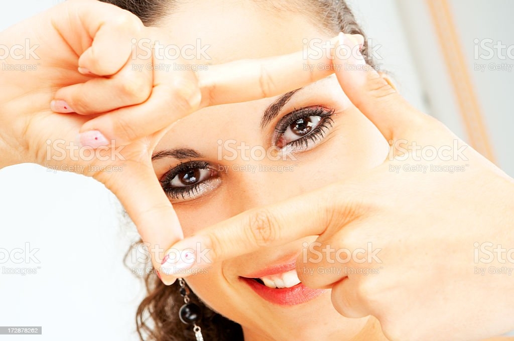 Woman look royalty-free stock photo