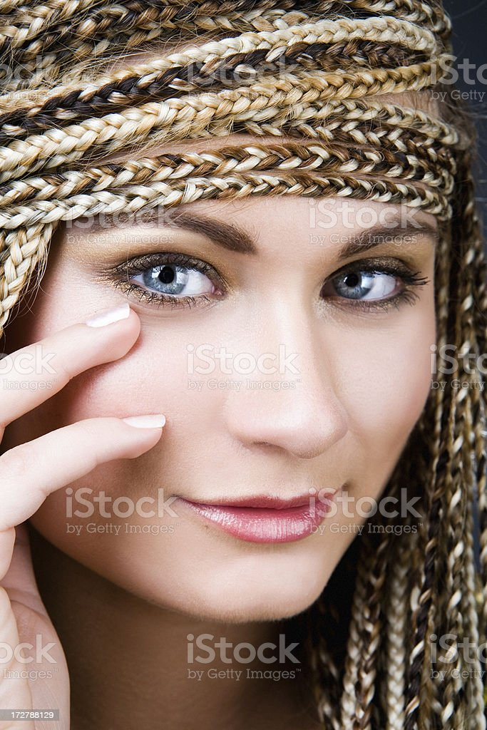 woman looking at you royalty-free stock photo