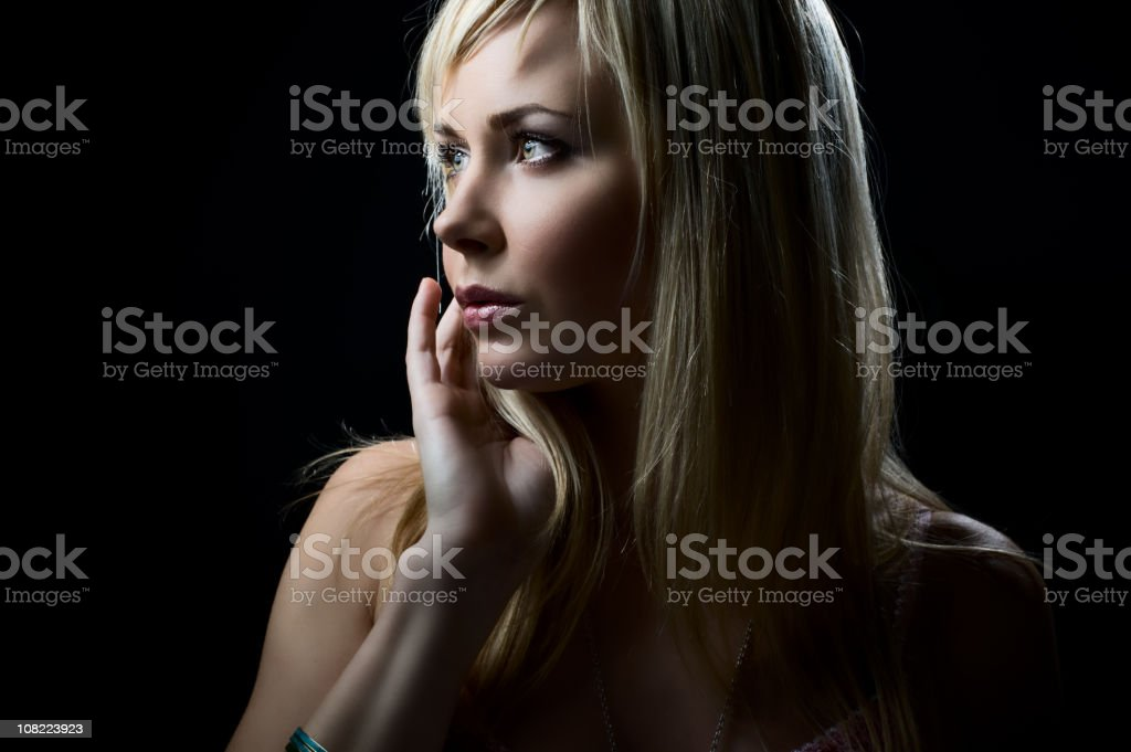Woman looking away royalty-free stock photo