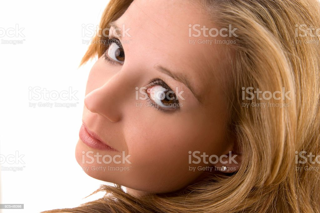 Woman/ Looking Back stock photo