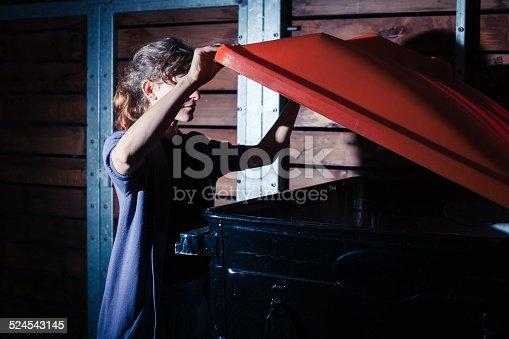 istock Woman looking inside a bin 524543145